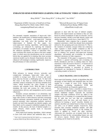 enhanced semi-supervised learning for automatic ... - IEEE Xplore