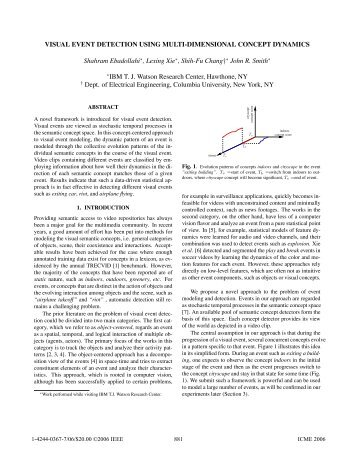 Visual Event Detection Using Multi-Dimensional Concept ... - CECS