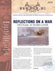 REFLECTIONS ON A WAR - Wisconsin Veterans Museum Foundation