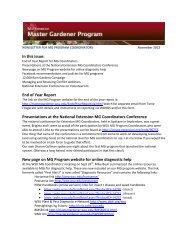 November 2012 - Master Gardener Program