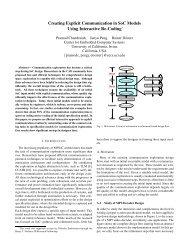 Creating Explicit Communication in SoC Models Using ... - CiteSeerX