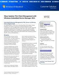Metia Windows Embedded Wyse Updates Thin Client Management ...