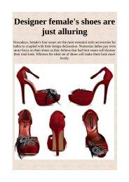 Designer female's shoes are just alluring