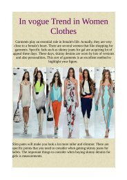 In vogue Trend in Women Clothes