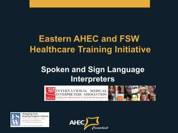 Sign Language - International Medical Interpreters Association