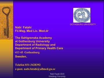 Nabi Fatahi Fil.Mag, Med Lic. Med.dr The Sahlgrenska ... - IMIA