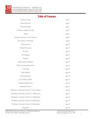 Table of Contents - IMIA