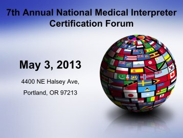 interpret - International Medical Interpreters Association