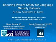 Ensuring Patient Safety for Language Minority Patients A New ...