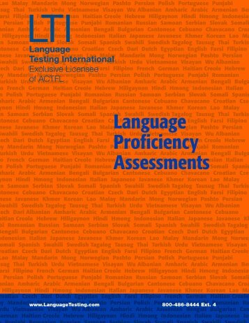 Language Proficiency Assessments