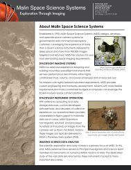 About MSSS (PDF) - Malin Space Science Systems