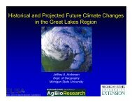 Historical and Projected Future Climate Changes in the Great Lakes ...