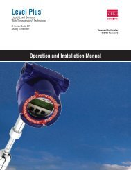 Model MR Installation Manual - MTS Sensors