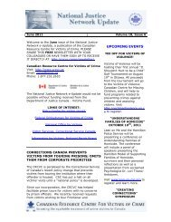 June 2011 - Canadian Resource Centre for Victims of Crime