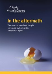 In the aftermath - Canadian Resource Centre for Victims of Crime