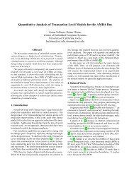 Quantitative Analysis of Transaction Level Models for ... - CiteSeerX