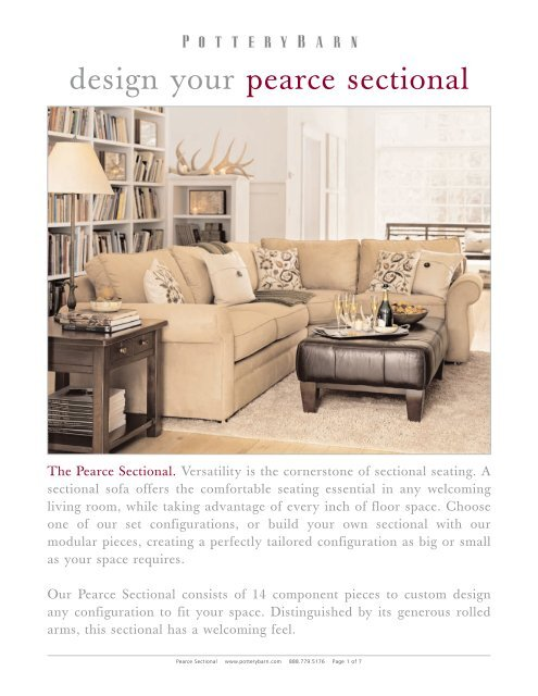 Peachy Design Your Pearce Sectional Theyellowbook Wood Chair Design Ideas Theyellowbookinfo