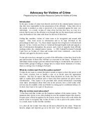 Advocacy for Victims of Crime - Canadian Resource Centre for ...