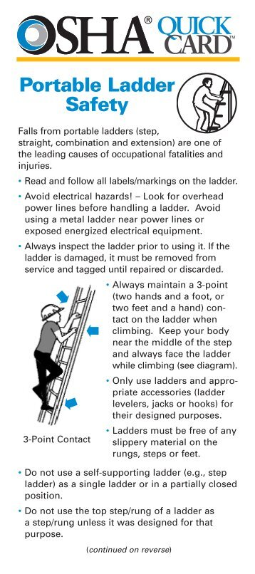Portable ladder safety procedure mylambton for Ladder safety tips