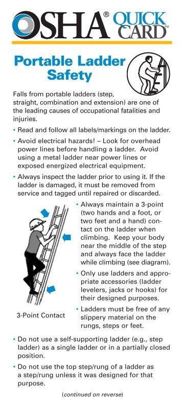 Portable Ladder Safety Procedure Mylambton