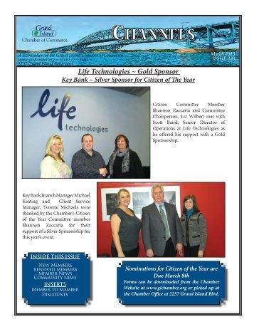march 2013 Newsletter.indd - Grand Island Chamber of Commerce