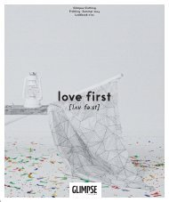 GLIMPSE Lookbook No. 02 // love first