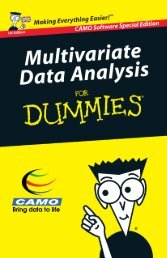 Multivariate Data Analysis for Dummies - Workcast