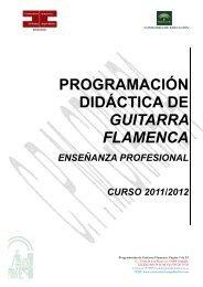 programacion didactica de guitarra flamenca curso 2011-12