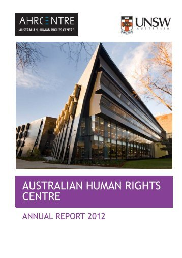 2012 - Australian Human Rights Centre