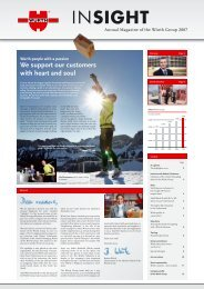 INSIGHT - Annual Magazine of the Würth Group 2007
