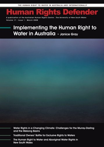 Implementing the Human Right to Water - Australian Human Rights ...
