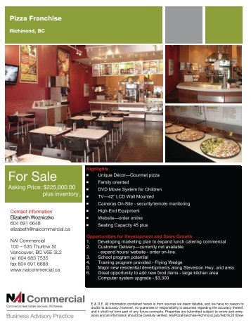 For Sale For Sale - NAI Commercial