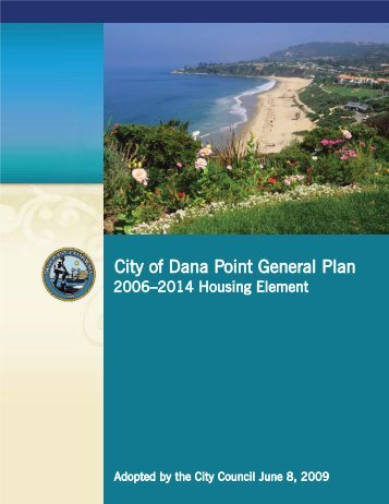 City of Dana Point General Plan - Piedmont Civic Association