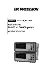 2831D and 5491B Bench Multimeters - Sefram