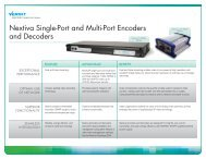 Nextiva Encoders and Decoders.pdf - Leading provider of wireless ...