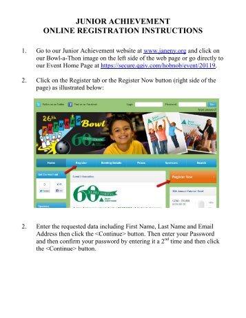 Online registration instruction of iub