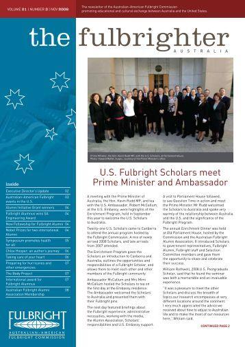November - Australian - American Fulbright Commission
