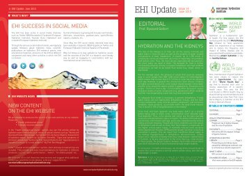 EHI Update - European Hydration Institute European Hydration ...