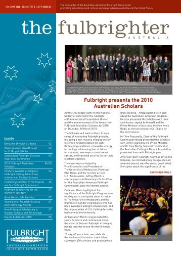 April - Australian - American Fulbright Commission