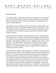 Press Release - Mary Boone Gallery