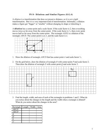 dilations math worksheet name date dilations and scale factors lesson math worksheets. Black Bedroom Furniture Sets. Home Design Ideas