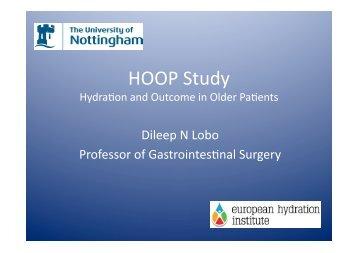 HOOP Study - European Hydration Institute European Hydration ...