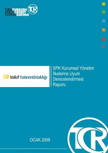 SPK Kurumsal Yönetim İlkelerine Uyum Derecelendirmesi Raporu