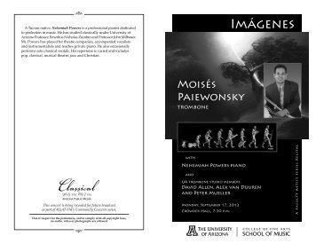 Download Event Program - University of Arizona