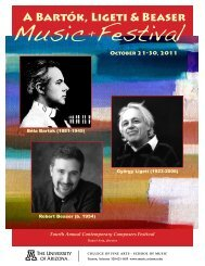 Download Event Program - School of Music - University of Arizona