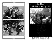 Download Event Program - School of Music - University of Arizona