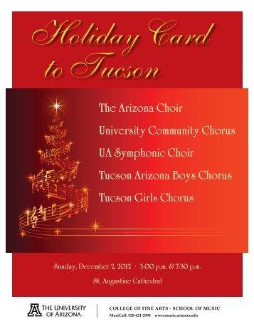 The Arizona Choir University Community Chorus ... - School of Music