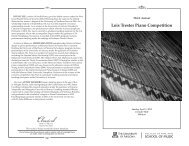 Lois Trester Piano Competition - School of Music - University of ...