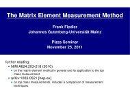 The Matrix Element Measurement Method