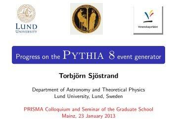 Progress on the Pythia 8 event generator